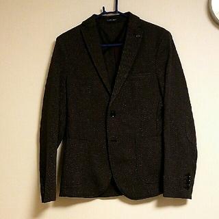 ザラ(ZARA)のZARA MAN ジャケット ブラック×グレー×レッド USA36(テーラードジャケット)