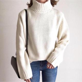 ローゲージタートルネックセーター Sサイズ
