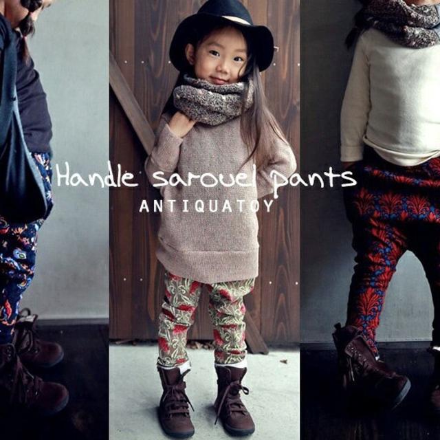 antiqua(アンティカ)のantiqatoy  サイズ100~  サルエルパンツ キッズ/ベビー/マタニティのキッズ服 女の子用(90cm~)(パンツ/スパッツ)の商品写真