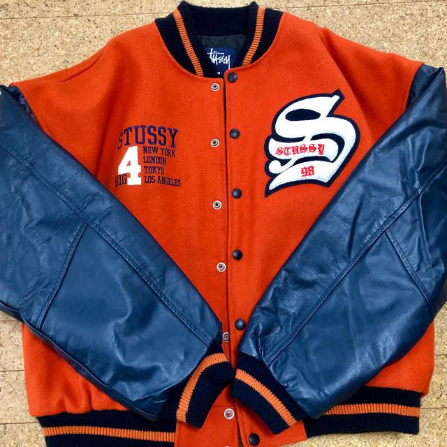 STUSSY(ステューシー)の90s STUSSY BIG4 スタジャン M MADE IN USA メンズのジャケット/アウター(スタジャン)の商品写真
