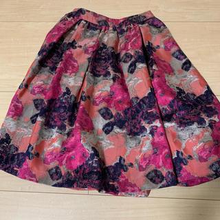 アンドクチュール(And Couture)のアンドクチュール♡フラワージャガードボリュームスカート(ひざ丈スカート)