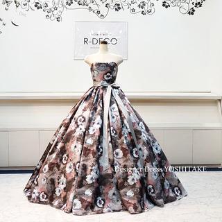 ウエディングドレス(パニエ無料) 花柄ドレス ブライダル二次会/披露宴(ウェディングドレス)