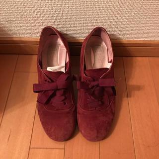 ナノユニバース(nano・universe)のナノユニバース 赤色ベロアブーツ(ブーツ)