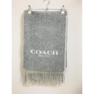 54adf6ee3acc コーチ(COACH) マフラー/ショール(レディース)(グレー/灰色系)の通販 ...