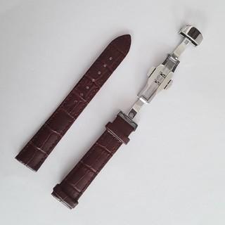腕時計 交換用ベルトクロコダイル型押し 牛本皮 茶18/19/20/22mm(レザーベルト)