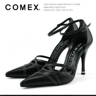 COMEX - ポインテッドトゥ パンプス コメックス 5046