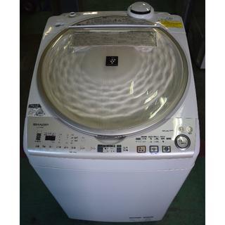 シャープ(SHARP)の中古 洗濯機 シャープ ES-TX910-N タテ型 洗濯乾燥機 送料無料(洗濯機)