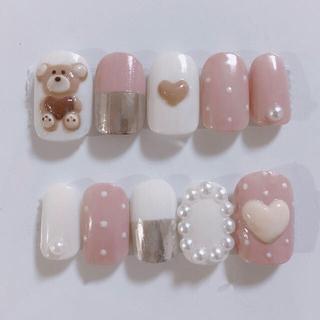 【3dバレンタインネイル】