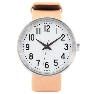 ムジルシリョウヒン(MUJI (無印良品))の新品 未使用 無印良品 公園の時計 小 腕時計 ベージュ(腕時計)