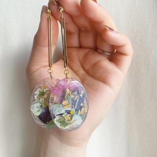 plate__flower ✱ viola(ピアス)
