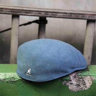 カンゴール(KANGOL)の【試着のみ】Wool 504 ライトブルー(ハンチング/ベレー帽)