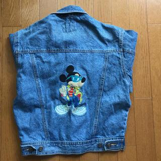 ディズニー(Disney)のミッキーマウス Gジャン デニムジャケット(Gジャン/デニムジャケット)