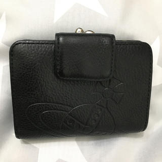 ヴィヴィアンウエストウッド(Vivienne Westwood)の二つ折り財布 ORB型押しレザー ブラック(財布)