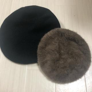 ローリーズファーム(LOWRYS FARM)の【売り切りセール】ベレー帽2点まとめ売り(ハンチング/ベレー帽)