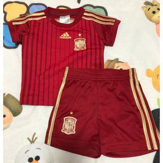 アディダス(adidas)のスペイン代表ユニフォーム☆上下セット☆70(Tシャツ)