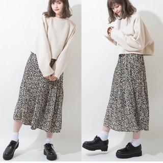 しまむら - ヒョウ柄プリーツスカート