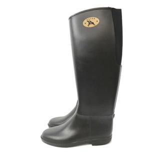 ダフナ(Dafna)のダフナ 24センチ 黒ロングブーツ Dafna(レインブーツ/長靴)