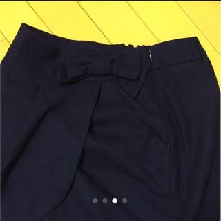 プーラフリーム(pour la frime)のリボンスカートMサイズ(ひざ丈スカート)