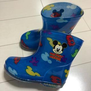 ディズニー(Disney)の[美品] 長靴 ミッキー 13cm(長靴/レインシューズ)