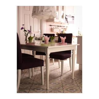 イケア(IKEA)の【IKEA】ダイニングテーブル INGATORP インガートルプ 白(ダイニングテーブル)