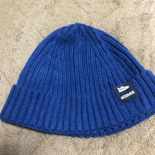 アトモス(atmos)の青 ニット帽(ニット帽/ビーニー)