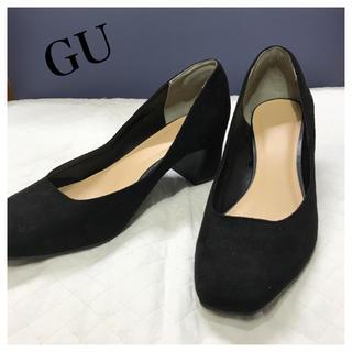 ジーユー(GU)のGU パンプス ブラック 黒 新品 Mサイズ(ハイヒール/パンプス)