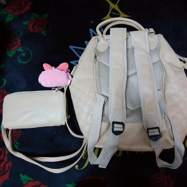 しまむら(シマムラ)のしまメロ♡リュック&ショルダーウォレット&キーホルダー3点セット レディースのバッグ(リュック/バックパック)の商品写真