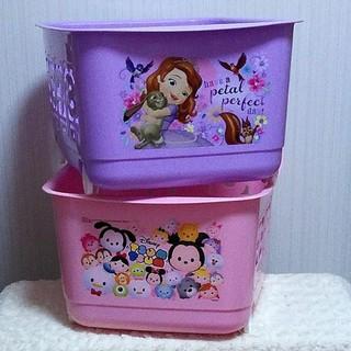 ディズニー(Disney)のDisney*ツムツム&ソフィア*キッズバスケット2個セット*収納ボックス(キャラクターグッズ)