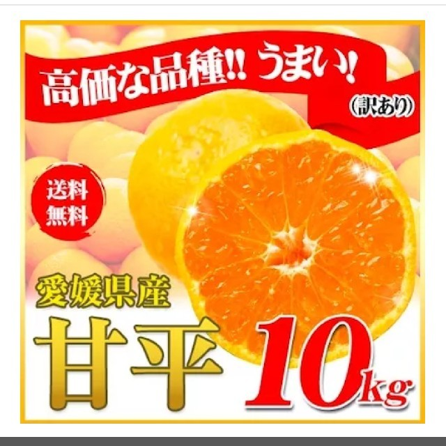 愛媛の訳あり 糖度12.5~15度甘平みかん10kg 追加3200円 食品/飲料/酒の食品(フルーツ)の商品写真