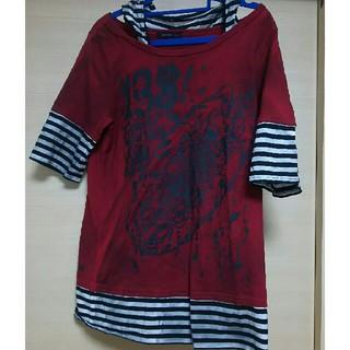 アルゴンキン(ALGONQUINS)のアルゴンキン ボーダー スカル フードつき(Tシャツ(長袖/七分))