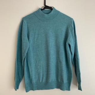 新品未使用 きれい色ニット セーター エメラルドグリーン タートルネック ウール(ニット/セーター)