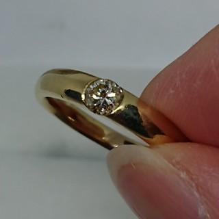 K18ダイヤモンドリング 0.3カラット 16号 カルティエ好きさんにも(リング(指輪))