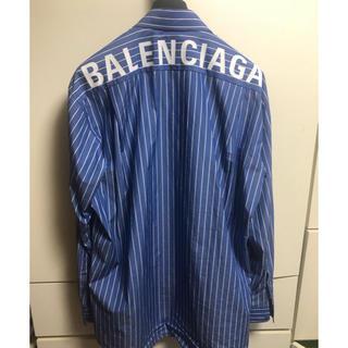 バレンシアガ(Balenciaga)のバレンシアガ balenciaga ロゴストライプシャツ 39(シャツ)