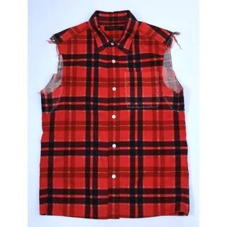 アンダーカバー(UNDERCOVER)のアンダーカバー 03ss SACAB チェック ノースリーブ チェックシャツ メ(Tシャツ/カットソー(半袖/袖なし))