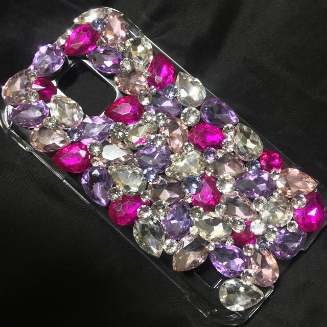 iphone7 ケース かわいい 安い | キラキラガラスビジュー スワロフスキーアイフォン ケースカバースマホの通販 by デコショップ  雅|ラクマ