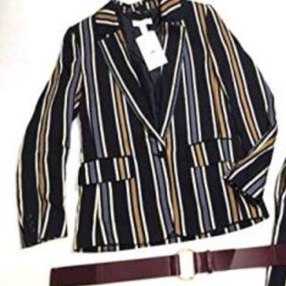 エイチアンドエム(H&M)の安室奈美恵さん着用 H&Mコラボストライプジャケット&おまけベルト(テーラードジャケット)