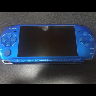 プレイステーションポータブル(PlayStation Portable)のSONY PSP-3000VB ブルー 本体キット ジャンク品(携帯用ゲーム本体)