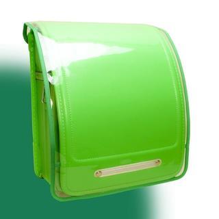 ランドセルカバー 透明 Clear × Solid グリーン(ランドセル)