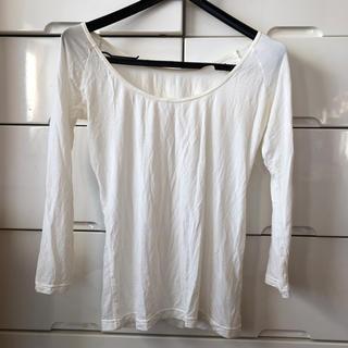 シマムラ(しまむら)の着用回数一度のみ☆ファイバーヒート ホワイト L(アンダーシャツ/防寒インナー)