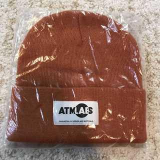 アトモス(atmos)のアトモス ラボ ATMOS LAB ニットキャップ オレンジ(ニット帽/ビーニー)