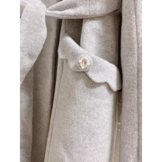 Feroux(フェルゥ)のFeroux グレーコート  レディースのジャケット/アウター(ロングコート)の商品写真
