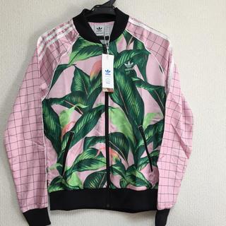 アディダス(adidas)のアディダス  ジャージ ボタニカル 花柄 ピンク オリジナル ジャケット(その他)