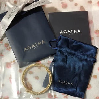 アガタ(AGATHA)のAGATHA アガタ ブレスレット 犬 モチーフ スワロ ゴージャス(ブレスレット/バングル)