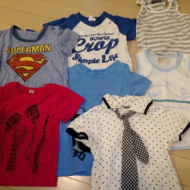しまむら(シマムラ)の男の子 夏物 Tシャツ 短パンセット キッズ/ベビー/マタニティのキッズ服 男の子用(90cm~)(Tシャツ/カットソー)の商品写真