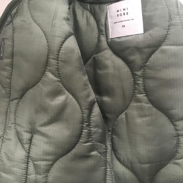 ぽんぽこ様専用 minirobe ローブキルティングジャケットSET カーキXS キッズ/ベビー/マタニティのベビー服(~85cm)(ジャケット/コート)の商品写真