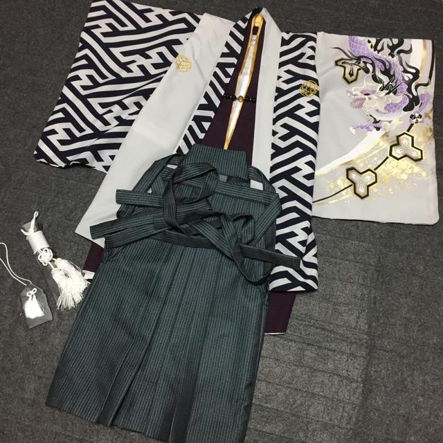 七五三 着物 袴 5歳 男の子 753 キッズ/ベビー/マタニティのキッズ服 男の子用(90cm~)(和服/着物)の商品写真