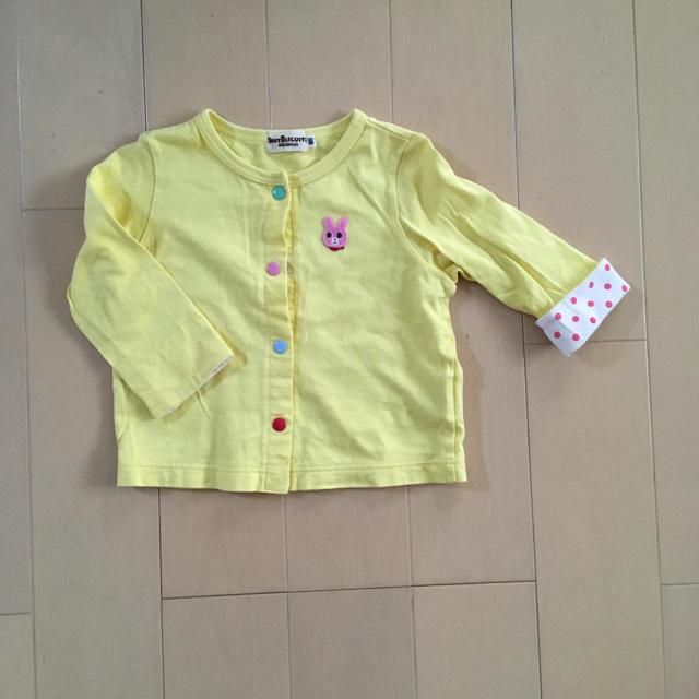 mikihouse(ミキハウス)のミキハウス ホットビスケッツ カーディガン 80 キッズ/ベビー/マタニティのベビー服(~85cm)(カーディガン/ボレロ)の商品写真