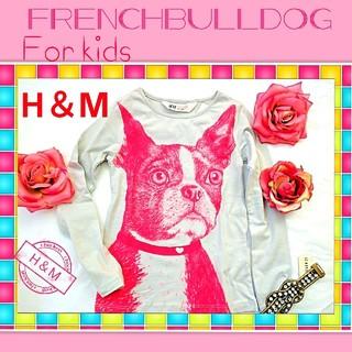 エイチアンドエム(H&M)の新品◆フレンチブルドッグ キッズ シャツ✦あまりに可愛い2サイズ  H&M限定 (犬)