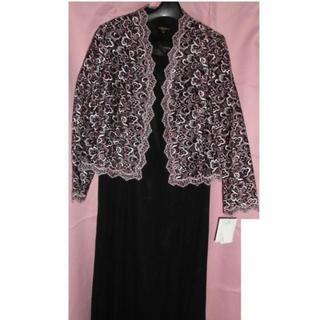 新品♦大きいサイズ17AR♦ラメ刺繍入りジャケットとマキシ丈ワンピースのセツト(その他ドレス)