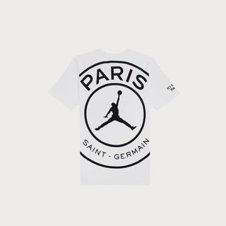ナイキ(NIKE)の新品 L PSG jordan LOGO Tシャツ(Tシャツ/カットソー(半袖/袖なし))